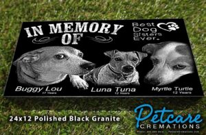 pet granite headstone
